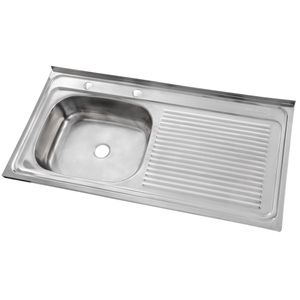 Lavaplatos Sobreponer 1000 x 500 mm Derecho c/Rebalse Inox