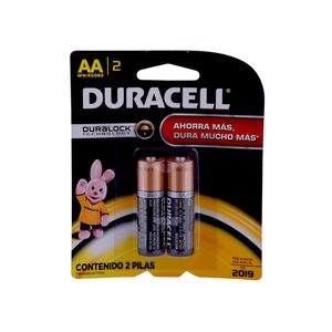 Pack 2 pilas alcalinas AA Duracell