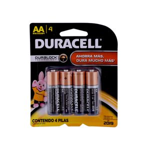 Pack 4 pilas alcalinas AA Duracell