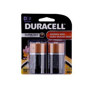 Pack 2 Pilas alcalinas D Duracell