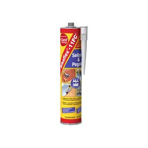 Sellante Elástico 300 ml Sikaflex 11 FC Gris/blanco