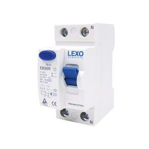Interruptor Automático 2x25 Amp Diferencial JVL4-63 Lexo Blanco