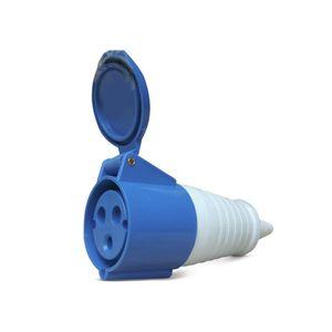 Enchufe hembra Lexo azul de 16 amperios