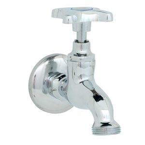 Llave Maquina De Lavar Al Piso 1/2´´ X 3/4´´ Standard Fas Cromo